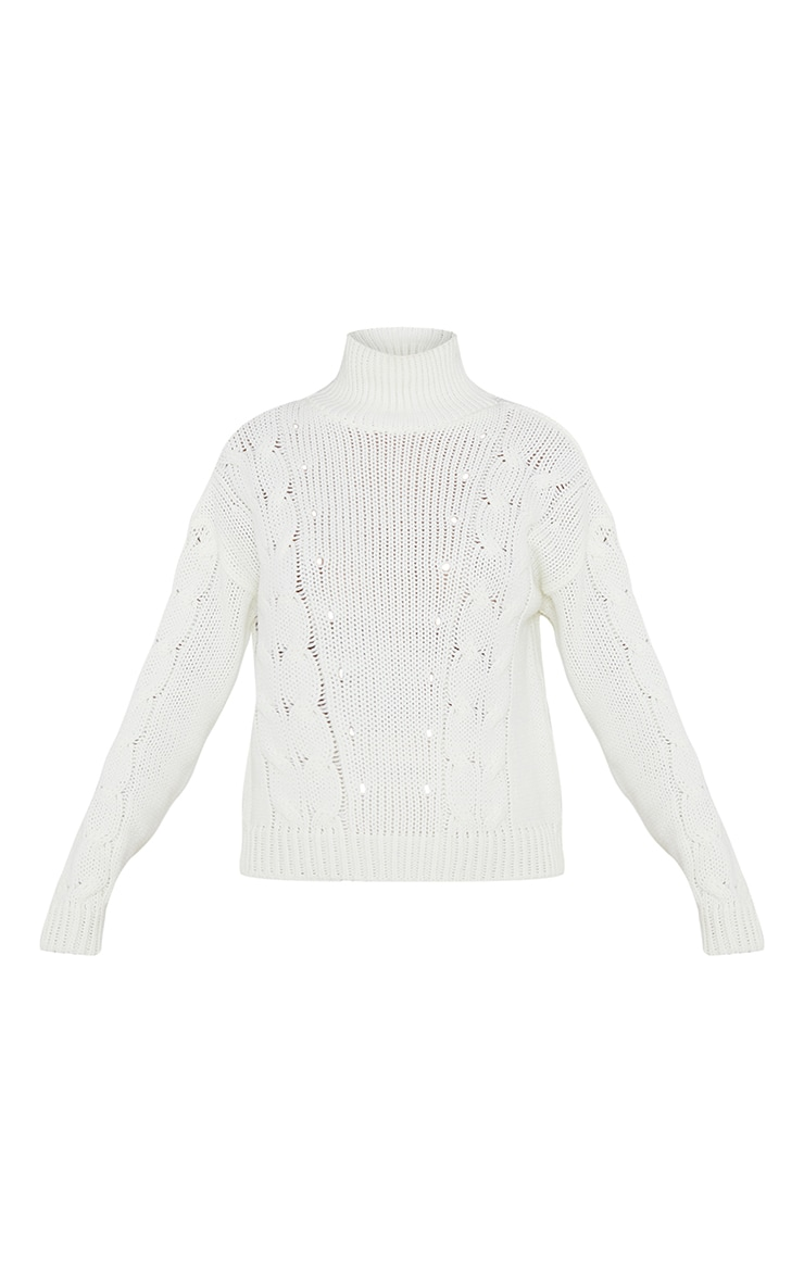 Cream Cable Turtle Knitted Jumper 5