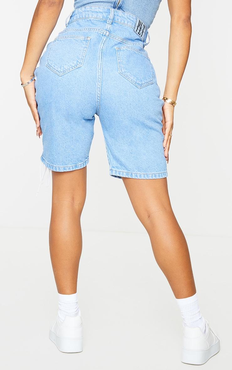 Shape - Short en jean vintage à lacets 3