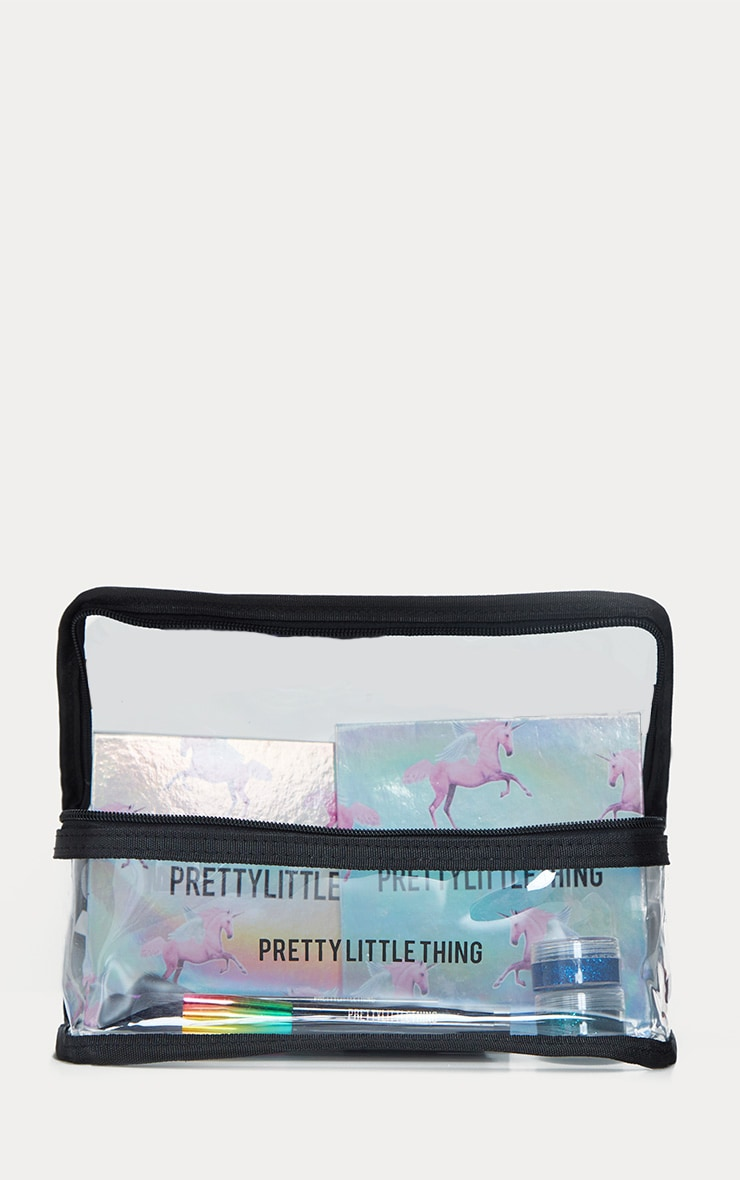 PRETTYLITTLETHING Large Transparent Cosmetic Bag 3
