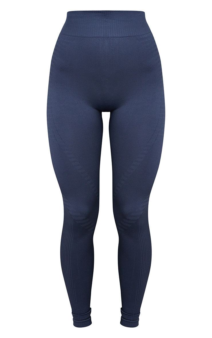 Charcoal Seamless Detailed Leggings 5