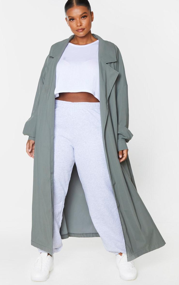 PRETTYLITTLETHING Plus Khaki Trench Coat 2