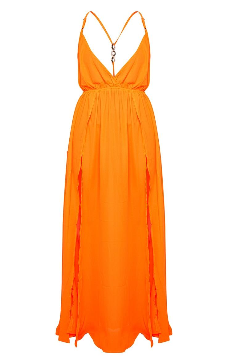 Orange Ring Detail Maxi Dress 5