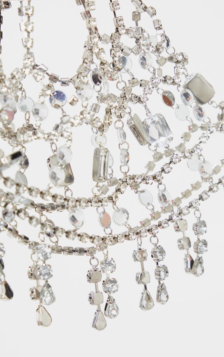 Silver Jewel Hair Piece 2