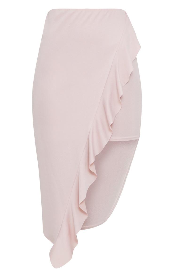 Blush Frill Wrap Midi Skirt 3