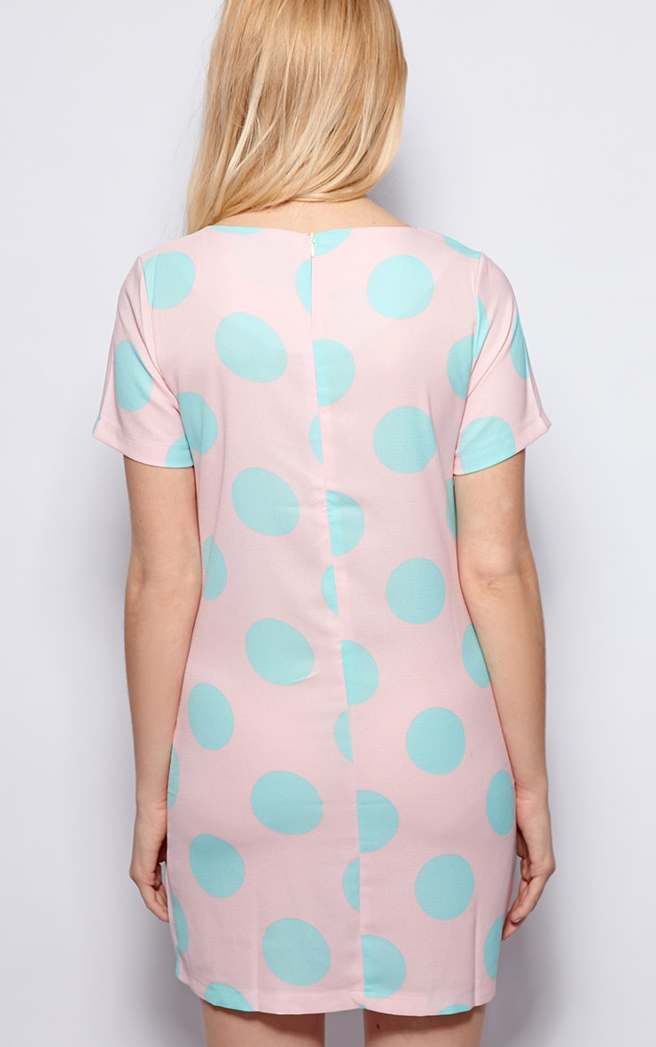 Cindy Pink Polka Dot Dress 2
