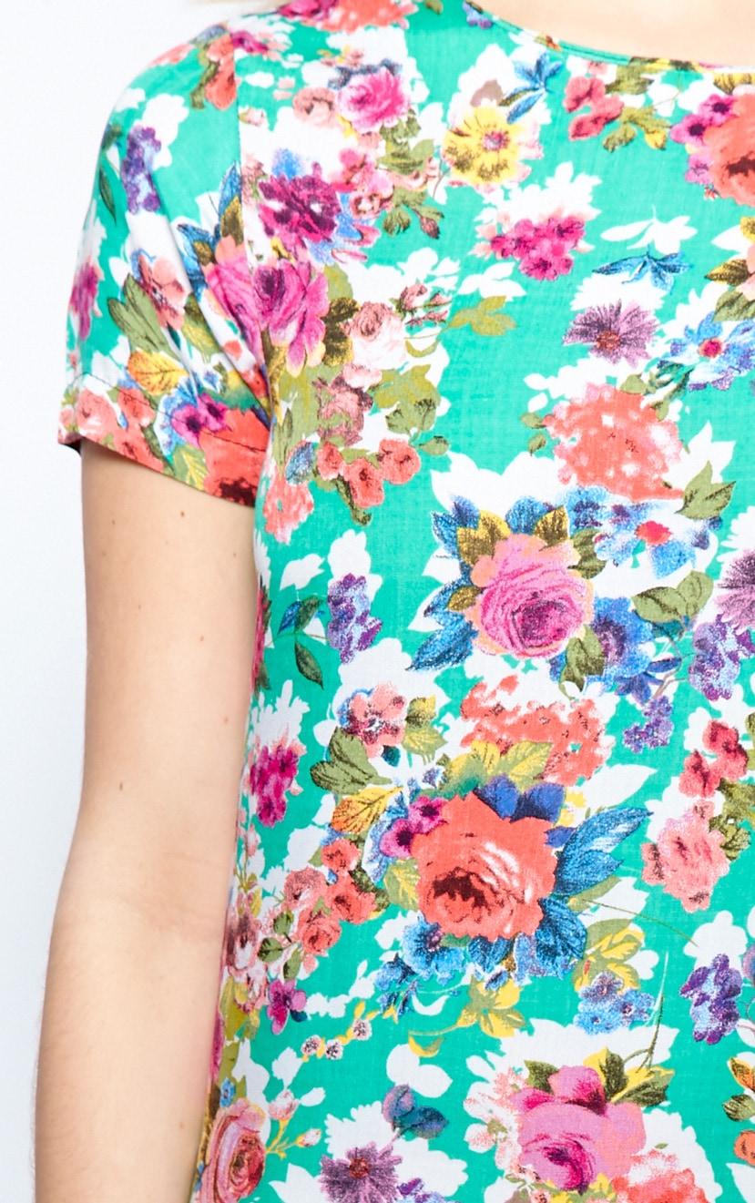 Saskia Green Floral Shift Dress 4