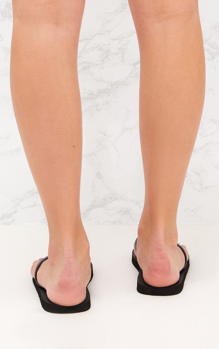 PRETTYLITTLETHING Black Flip Flops 5