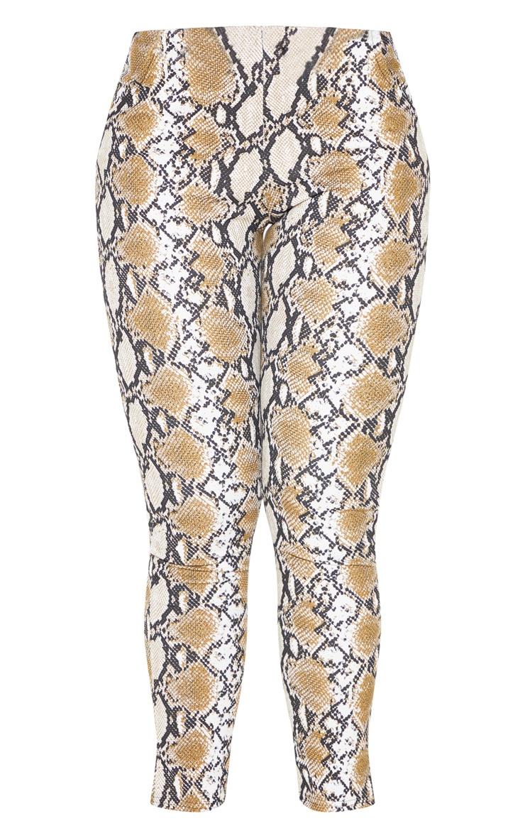 Tan Snake Printed Skinny Trouser 3