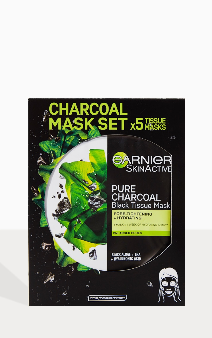 Garnier Charcoal and Algae Purifying and Hydrating Sheet Mask 5 Pack 2