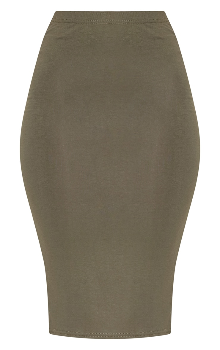 Basic Khaki Midi Skirt 3