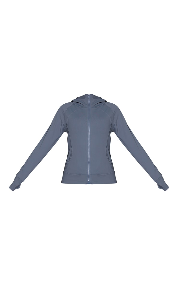 Grey Marl Brushed Luxe Zip Up Sports Jacket 5