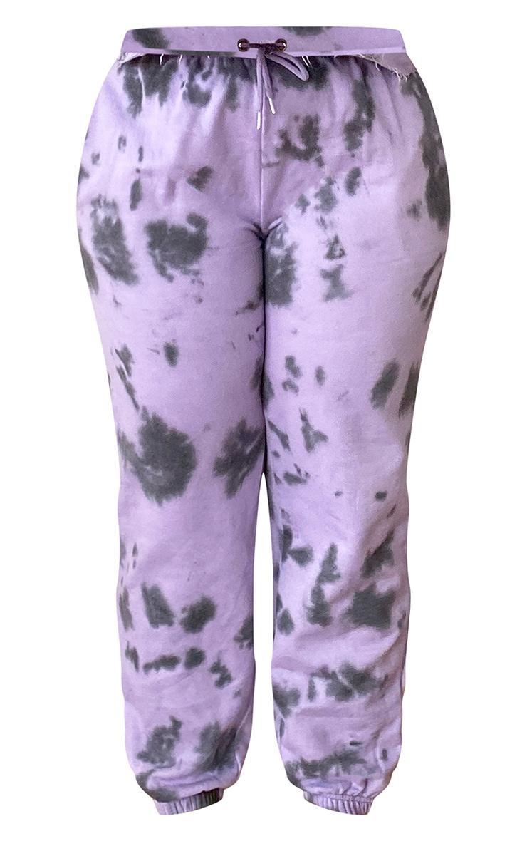 Plus Lilac Tie Dye Joggers 5
