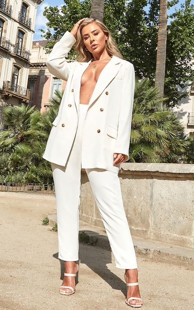 Petite Cream Tailored Trousers