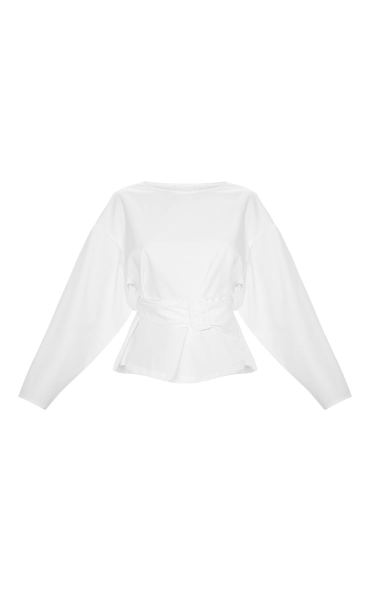 White Belt Detail Oversized Top 3