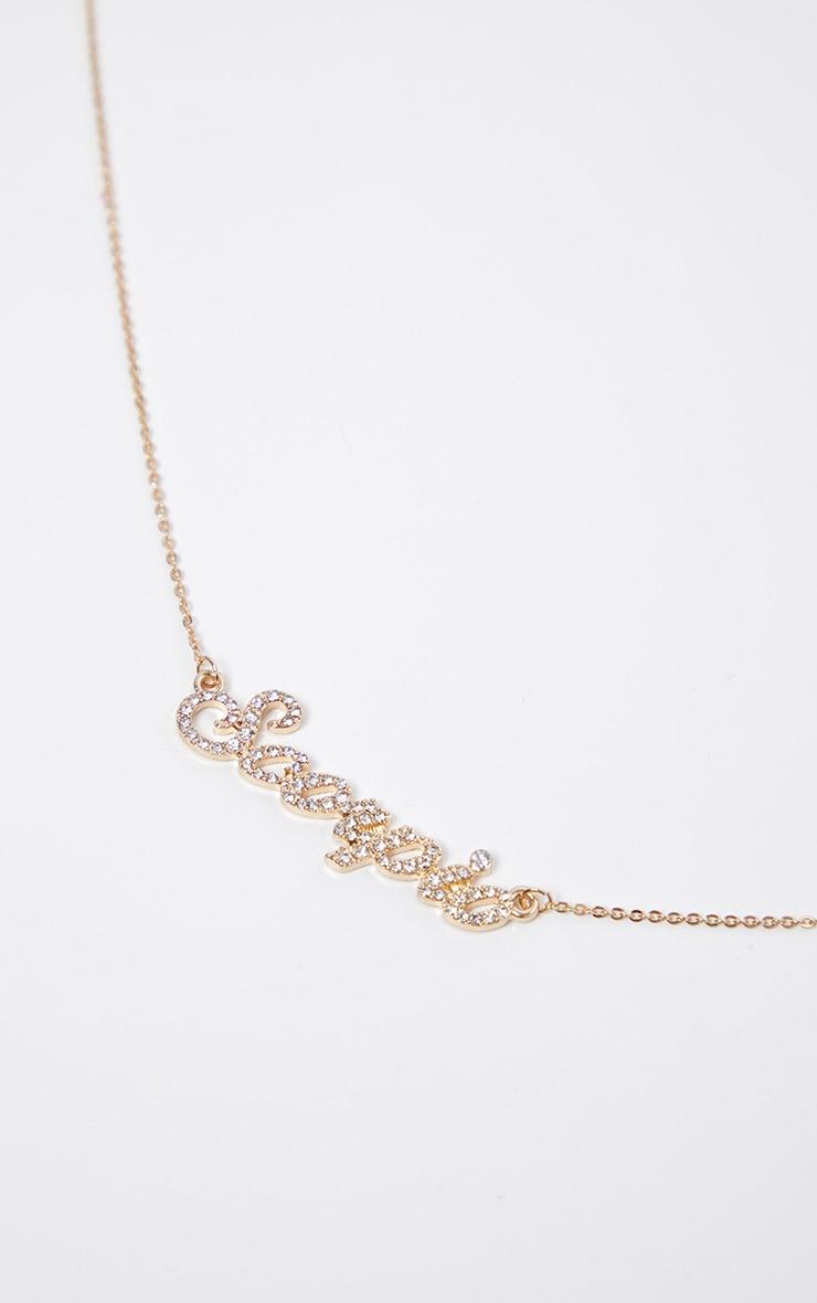 Gold Diamante Scorpio Star Sign Necklace 3
