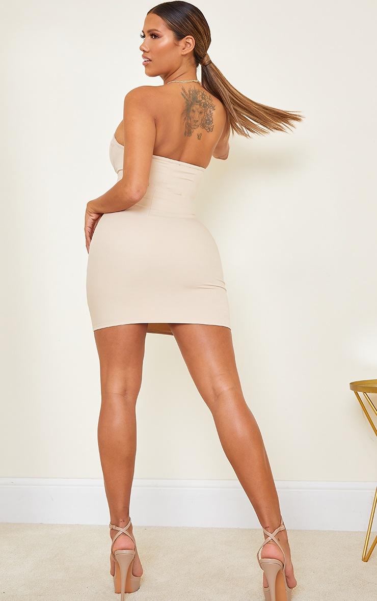 Shape Nude Corset Detail Bodycon Dress 2