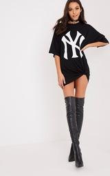 New York Yankees Slogan Black T Shirt Dress image 5 ab635fe9f5c