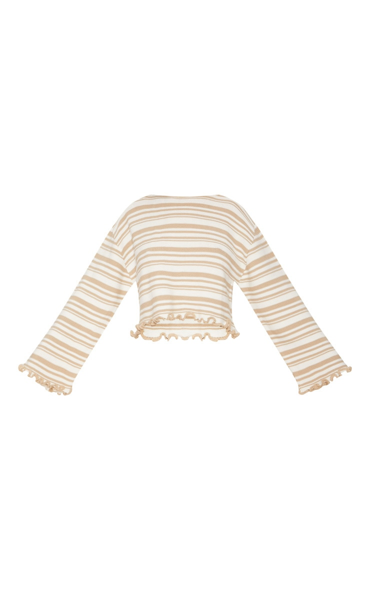 Stone Stripe Frill Edge Jumper 3