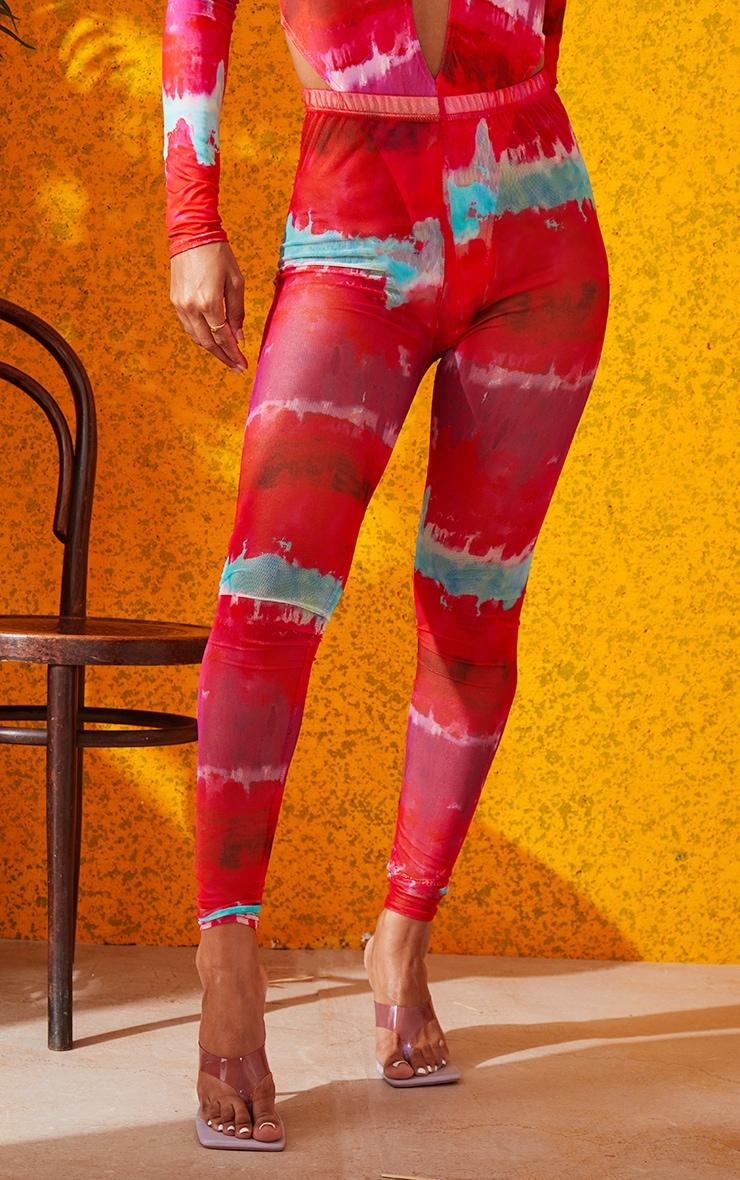 Multi Printed Mesh Leggings 3