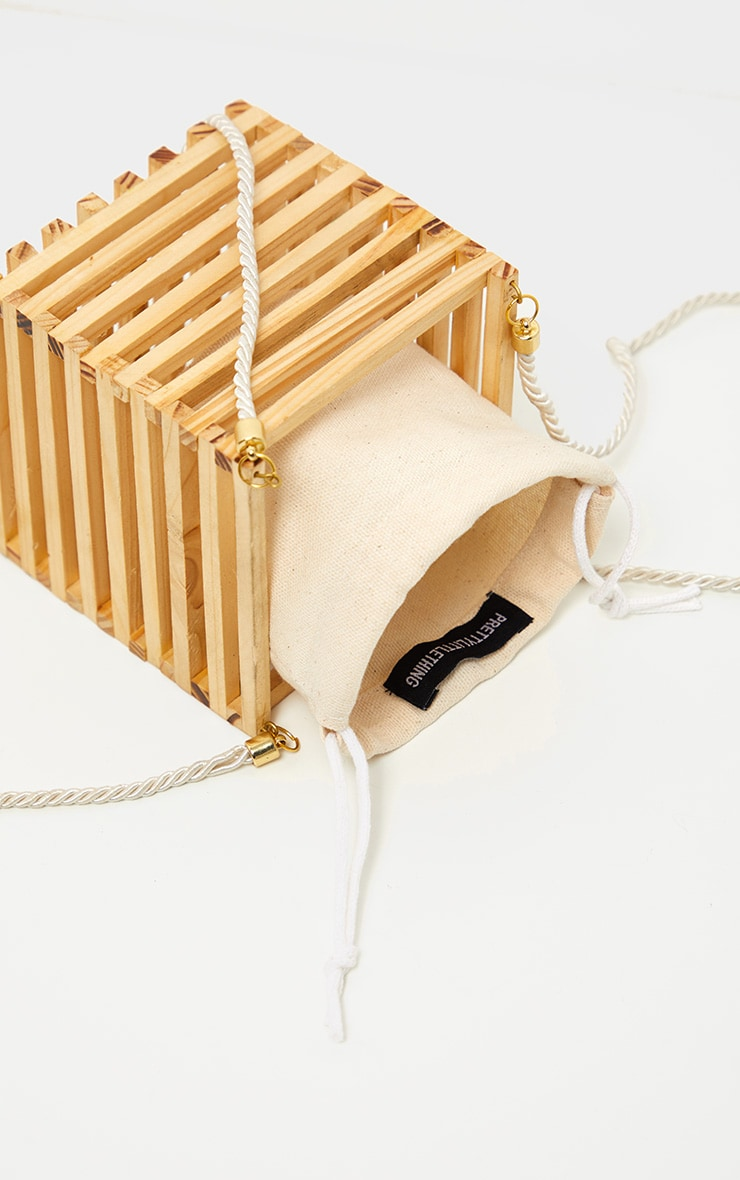 Natural Wood Cube Bag 3