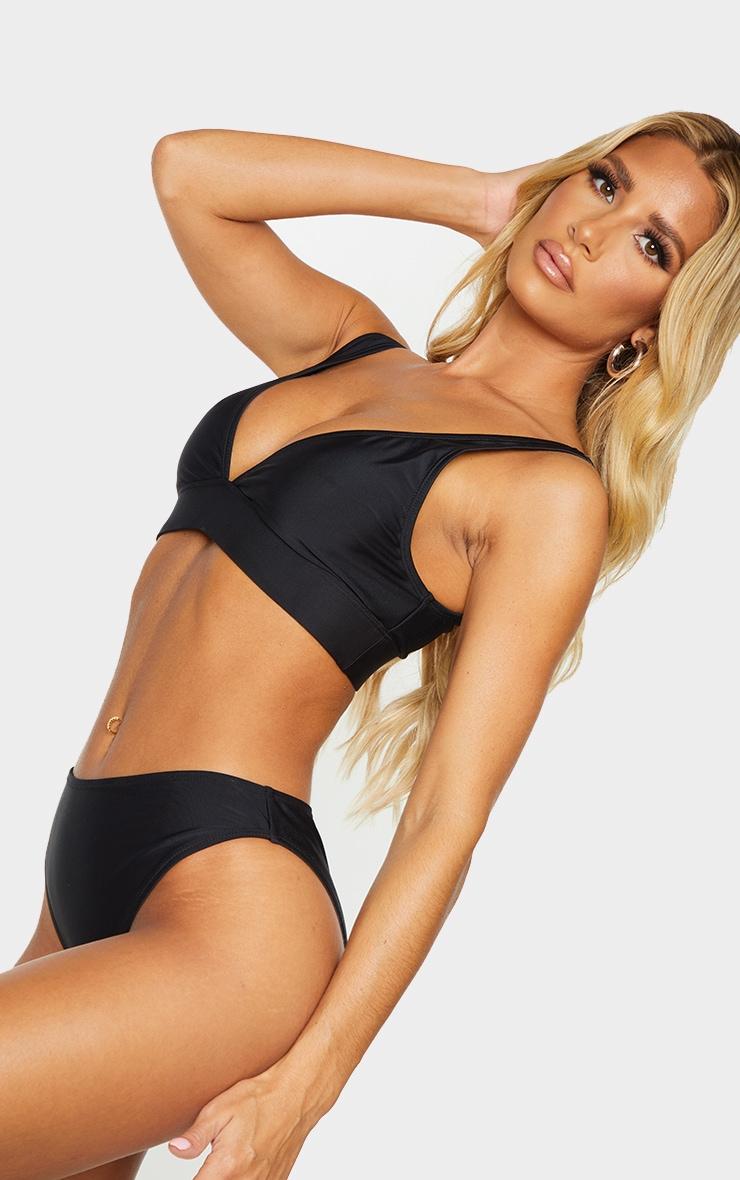 Black Mix & Match Recycled Fabric Cheeky Bum Bikini Bottoms 4