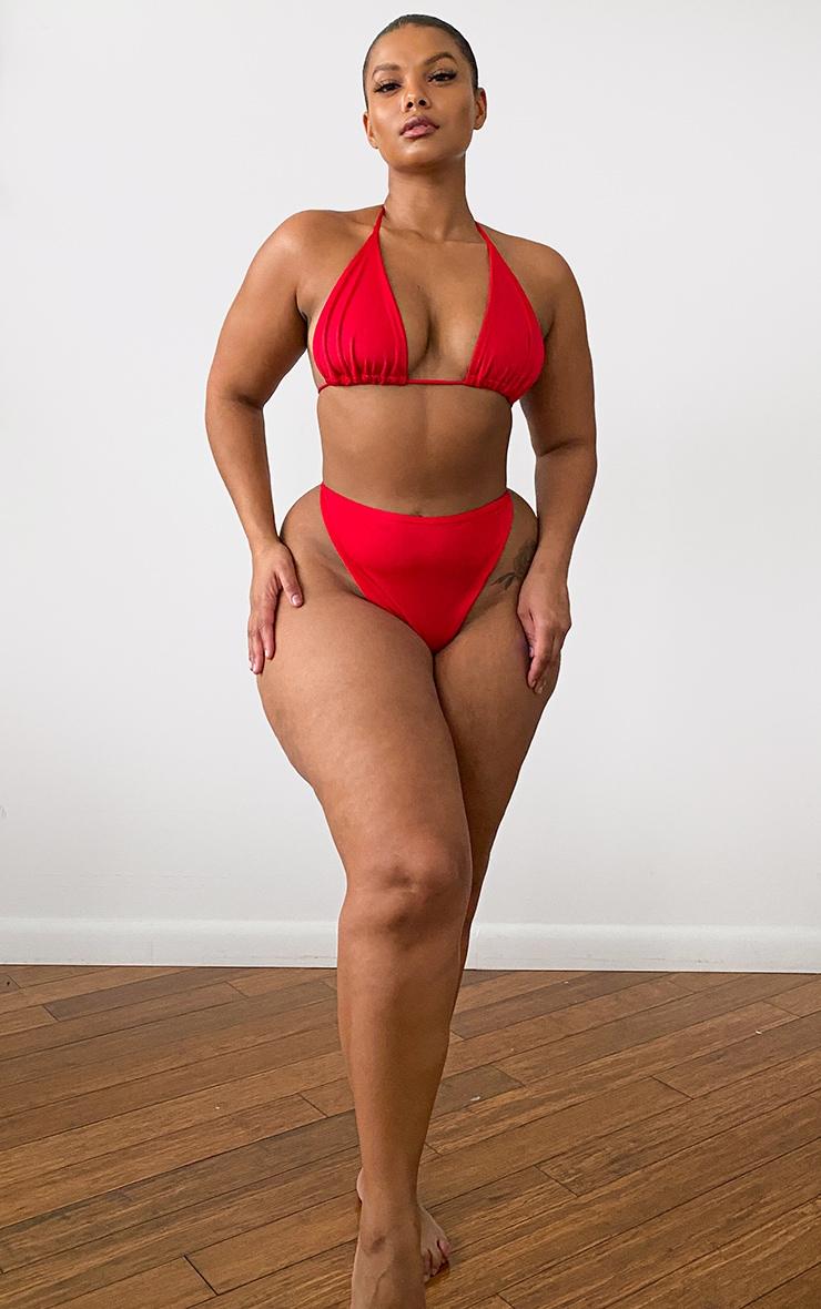 Plus Red Mix & Match Triangle Bikini Top 2