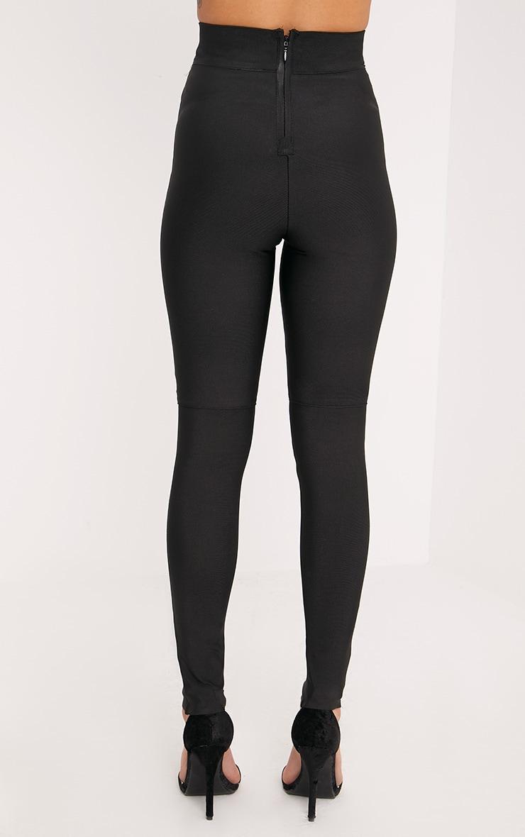 Raziela Black Bandage High Waisted Trousers 4