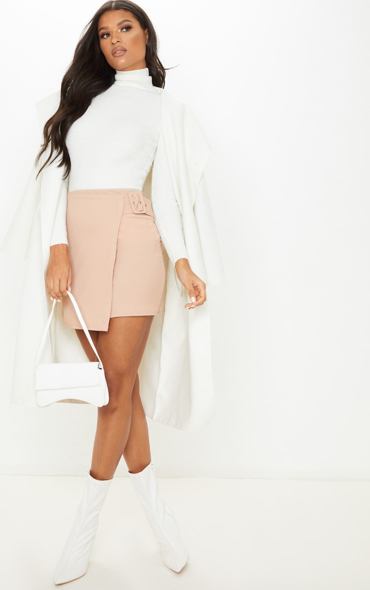 Stone Belted Wrap Over A Line Skirt  5