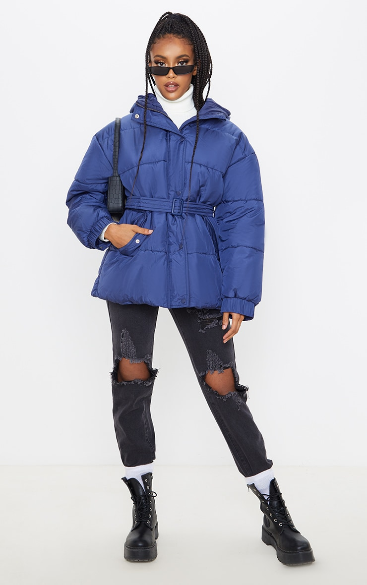 Navy Belted Puffer  4