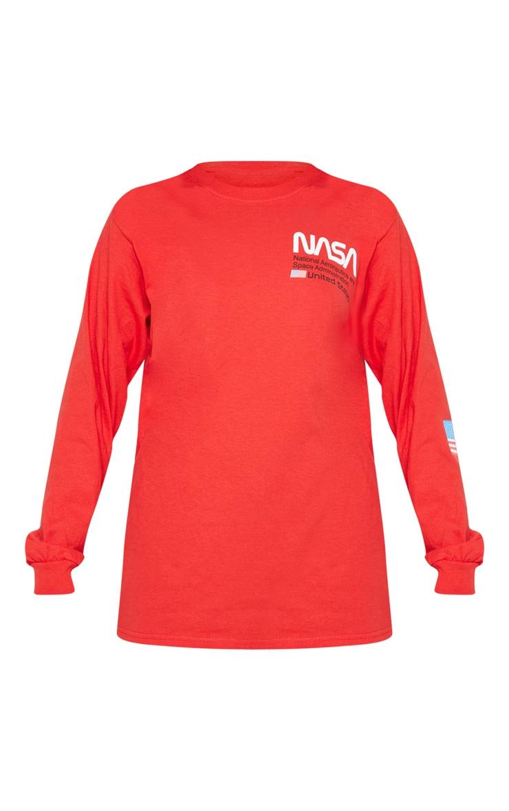 Red NASA Long Sleeve T shirt 3