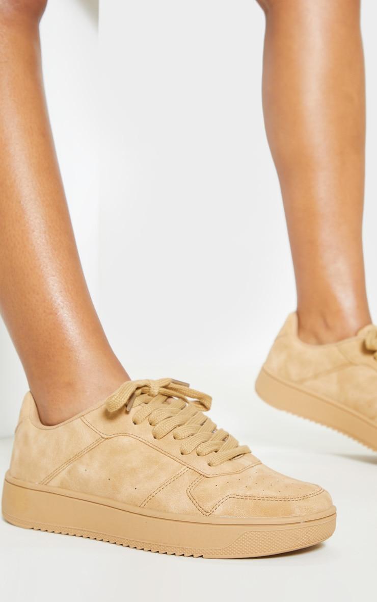 Sand Lace Up Flatform Sneaker 1