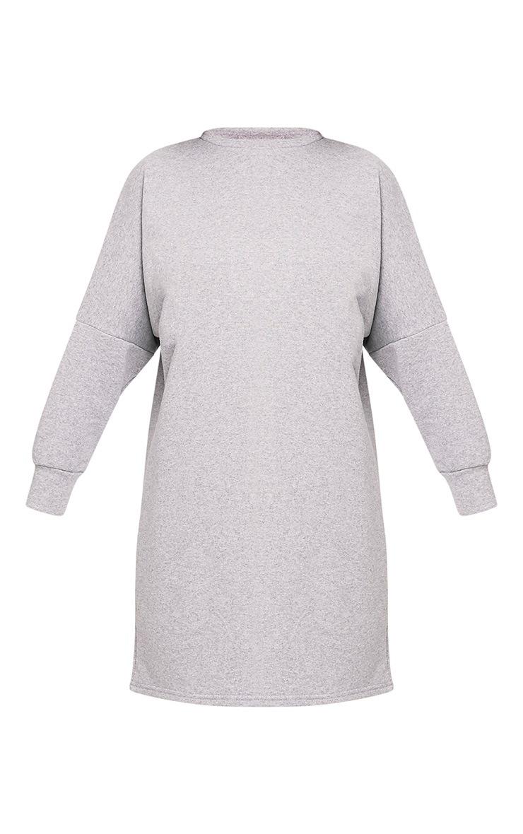 Laine robe pull surdimensionnée grise 3
