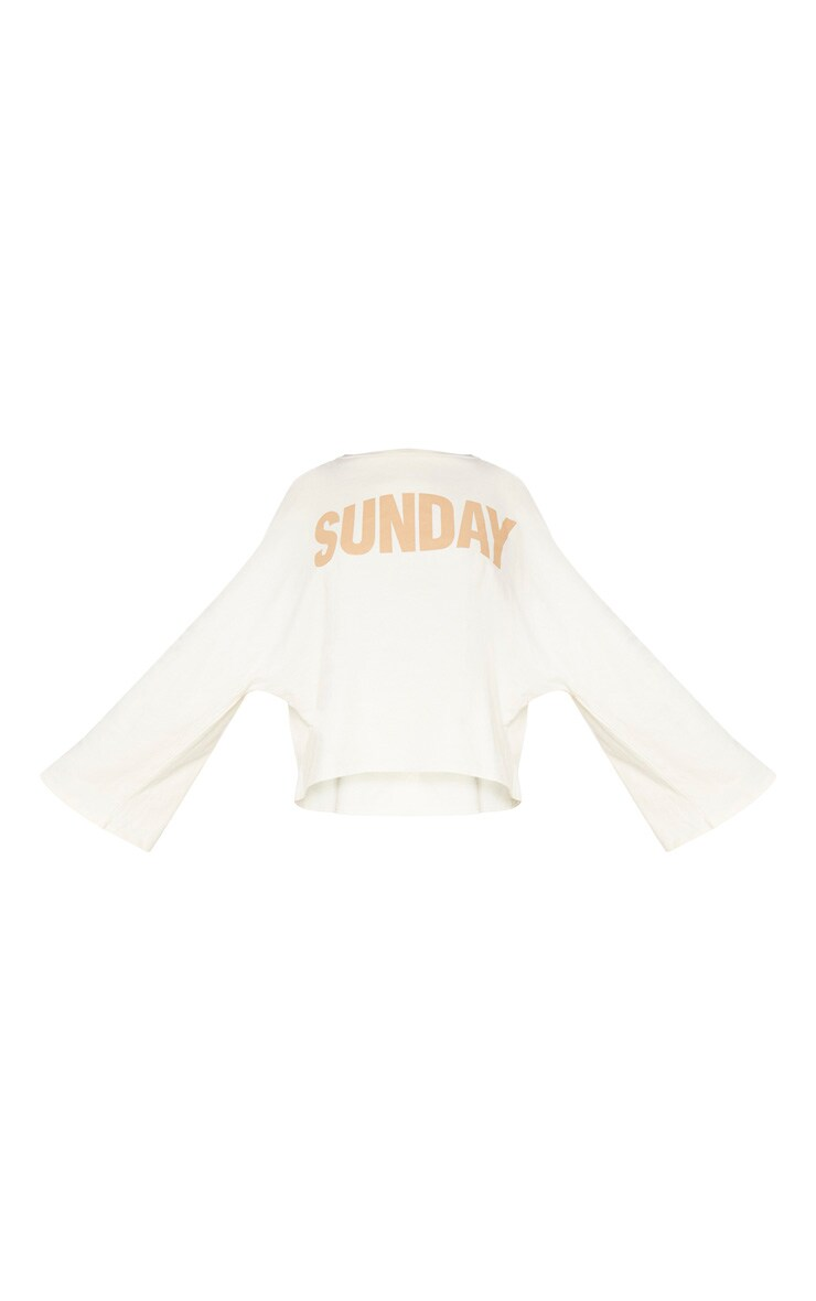 Sand Sunday Slogan Off Shoulder Sweater 4