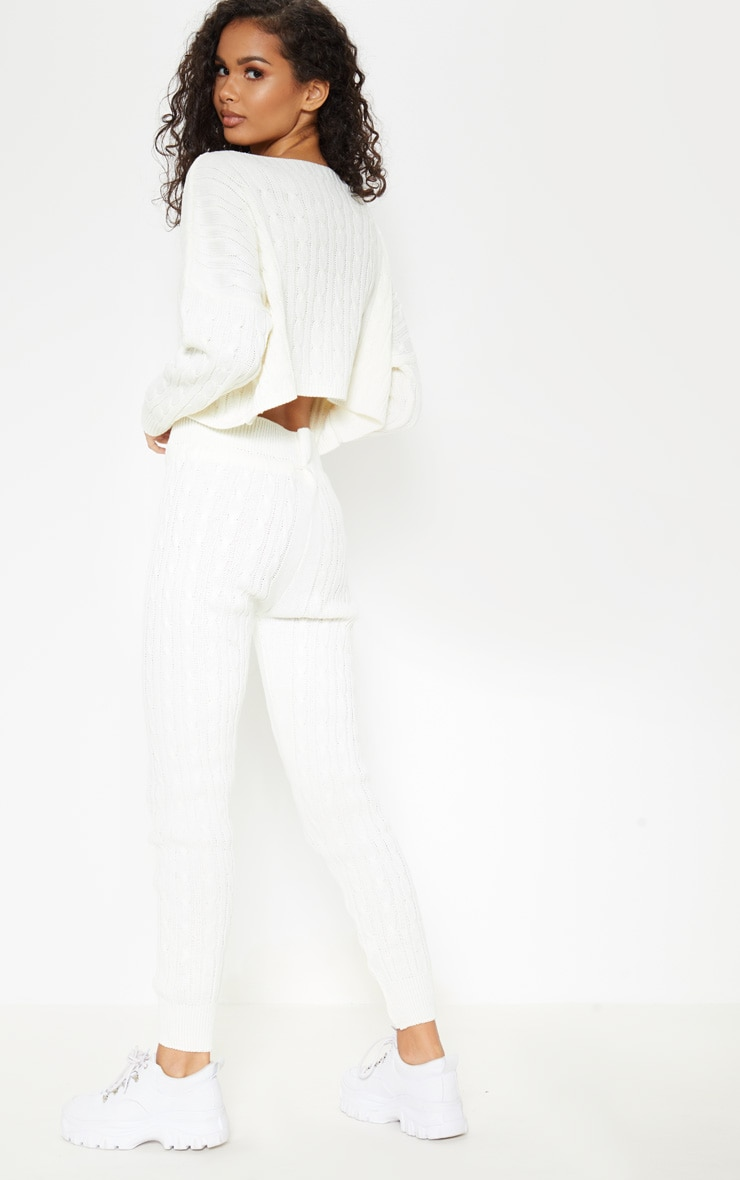 Cream Cable Knit Jumper & Legging Set 2