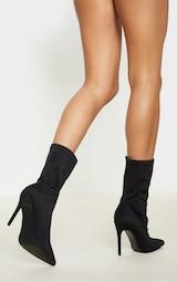 Black Lycra Sock Boot 2