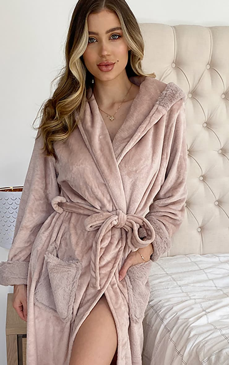 Stone Soft Pocket Dressing Gown 3