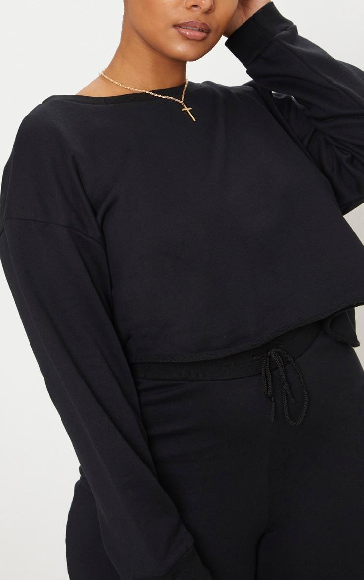 Plus Black Extreme Crop Sweater 5