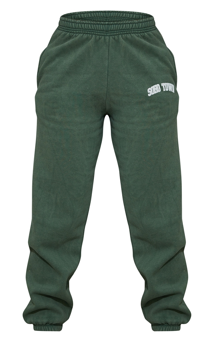 Green Washed Soho Town Printed Joggers 5
