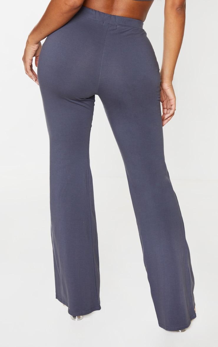 Shape Charcoal Cotton High Waist Flared Trouser 5