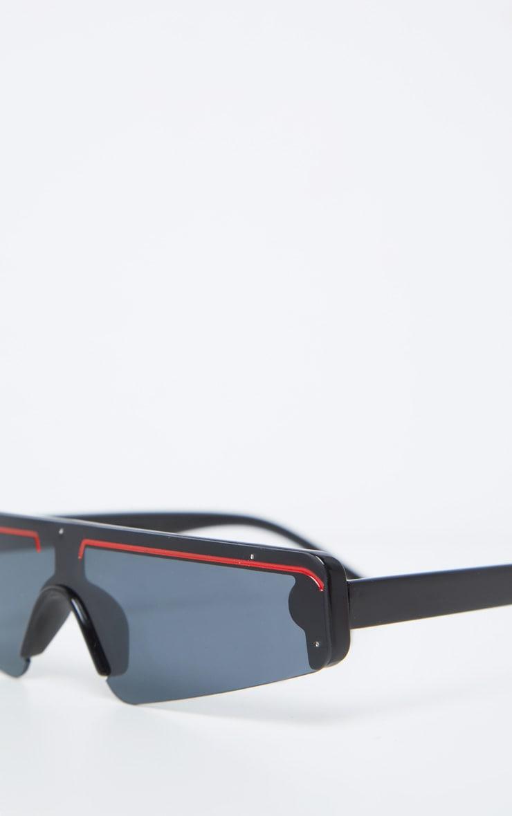 Black Frame Slimline Ski Sunglasses 5