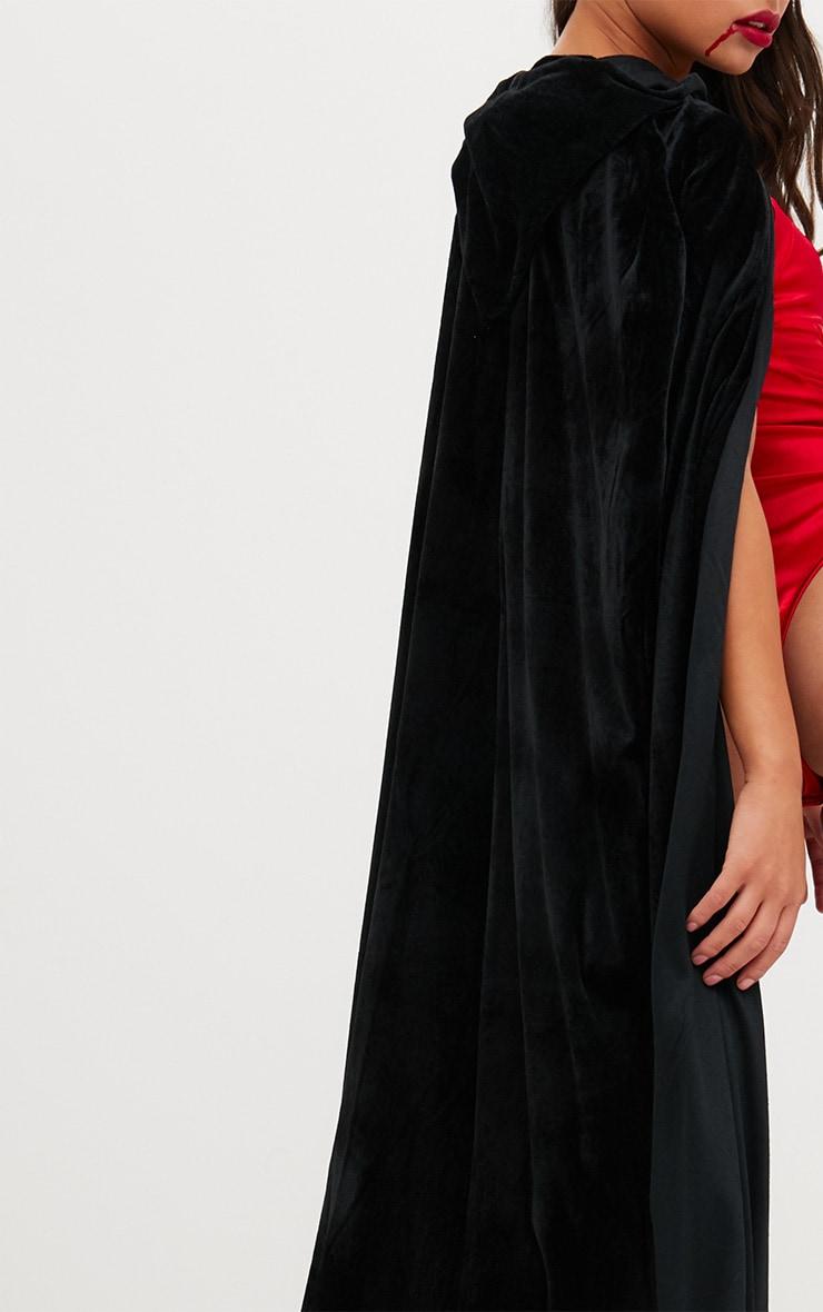 Cape à capuche en velours noir Halloween 5