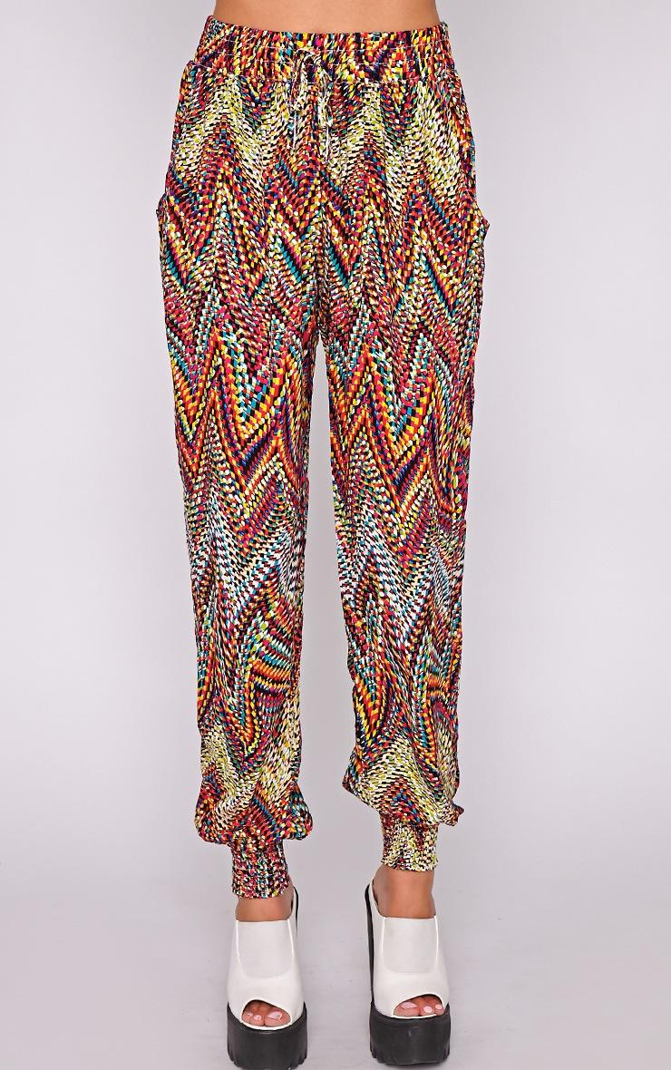Nahla Yellow Print Harem Trouser 2