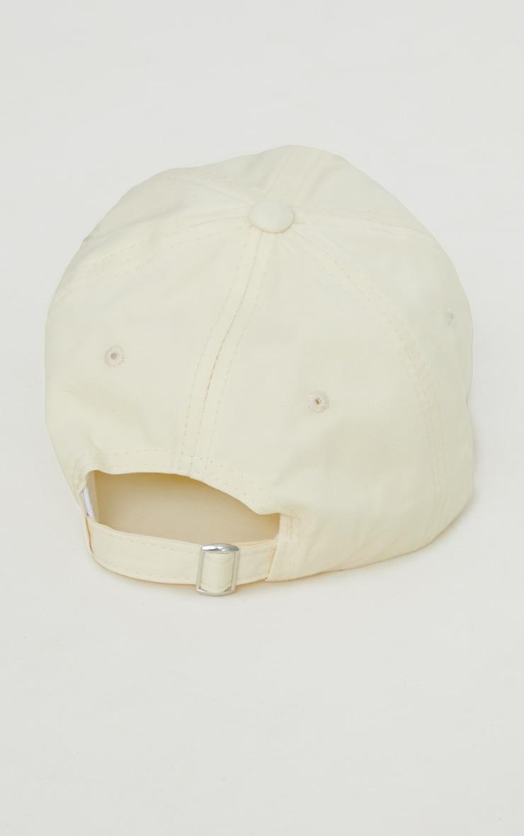PRETTYLITTLETHING Exclusive Cream Baseball Cap 4