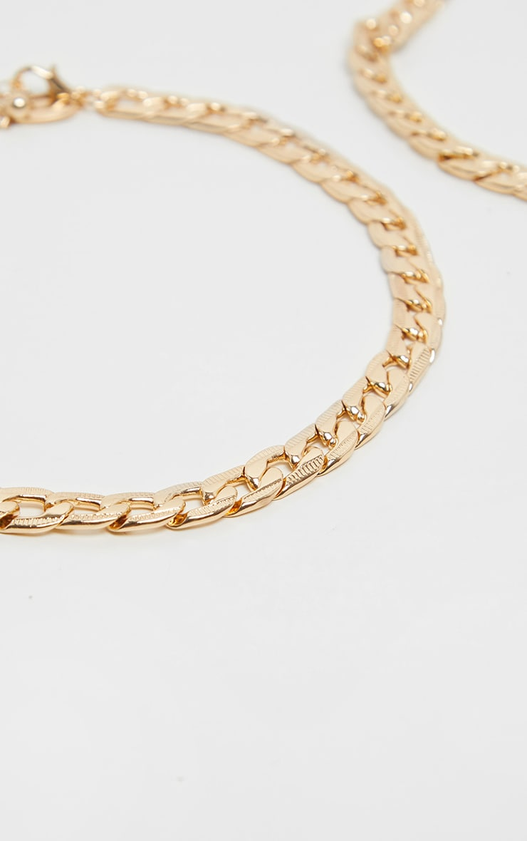 Gold Double Chain Choker 4