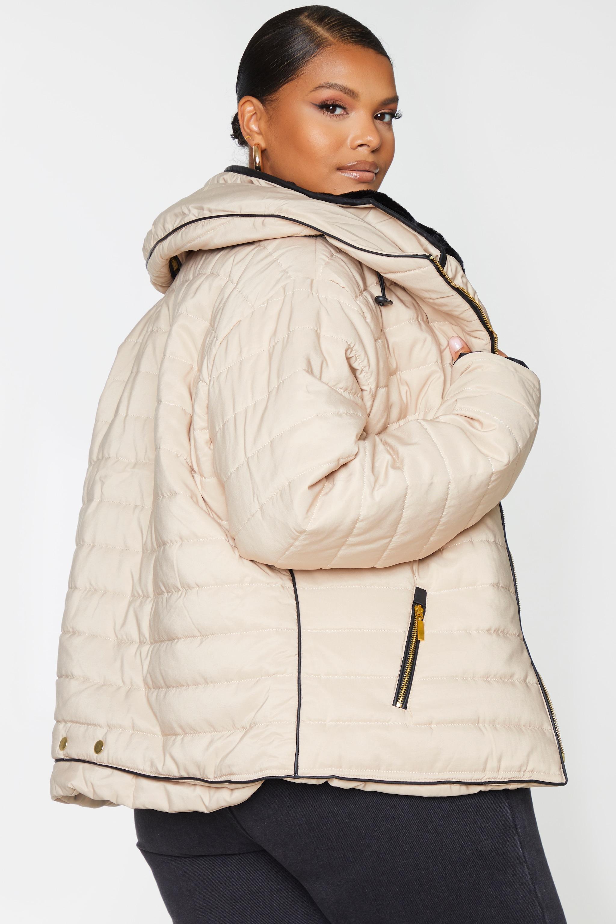 Plus Mara Stone Puffer Jacket 2