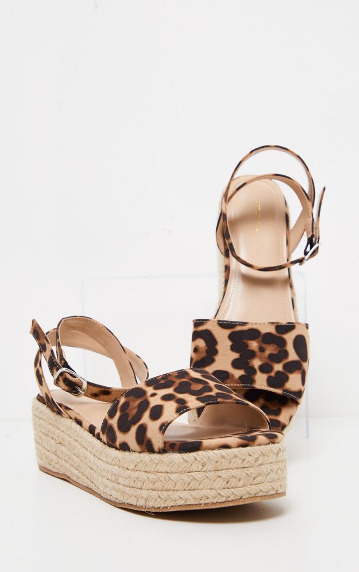 Leopard Espadrille Flatform Sandal 3