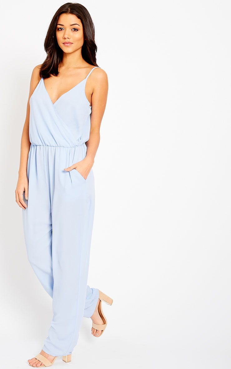 Jamelia Blue Wrap Front Jumpsuit 1