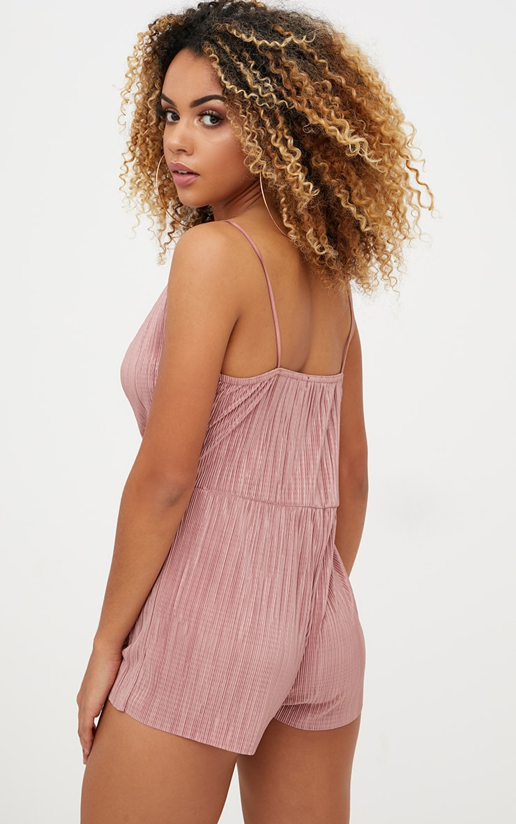 Rose Pleated Wrap Playsuit  2