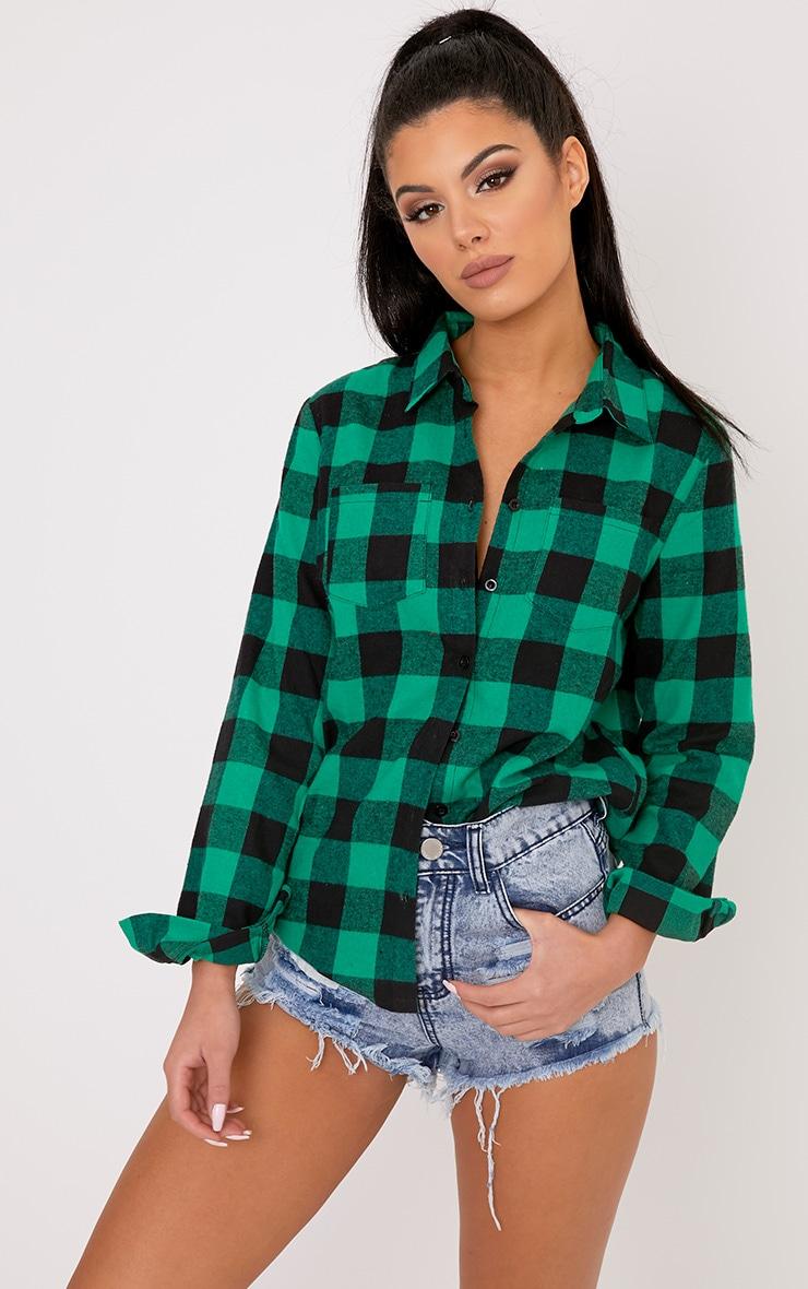 Layla Green Checked Shirt 1