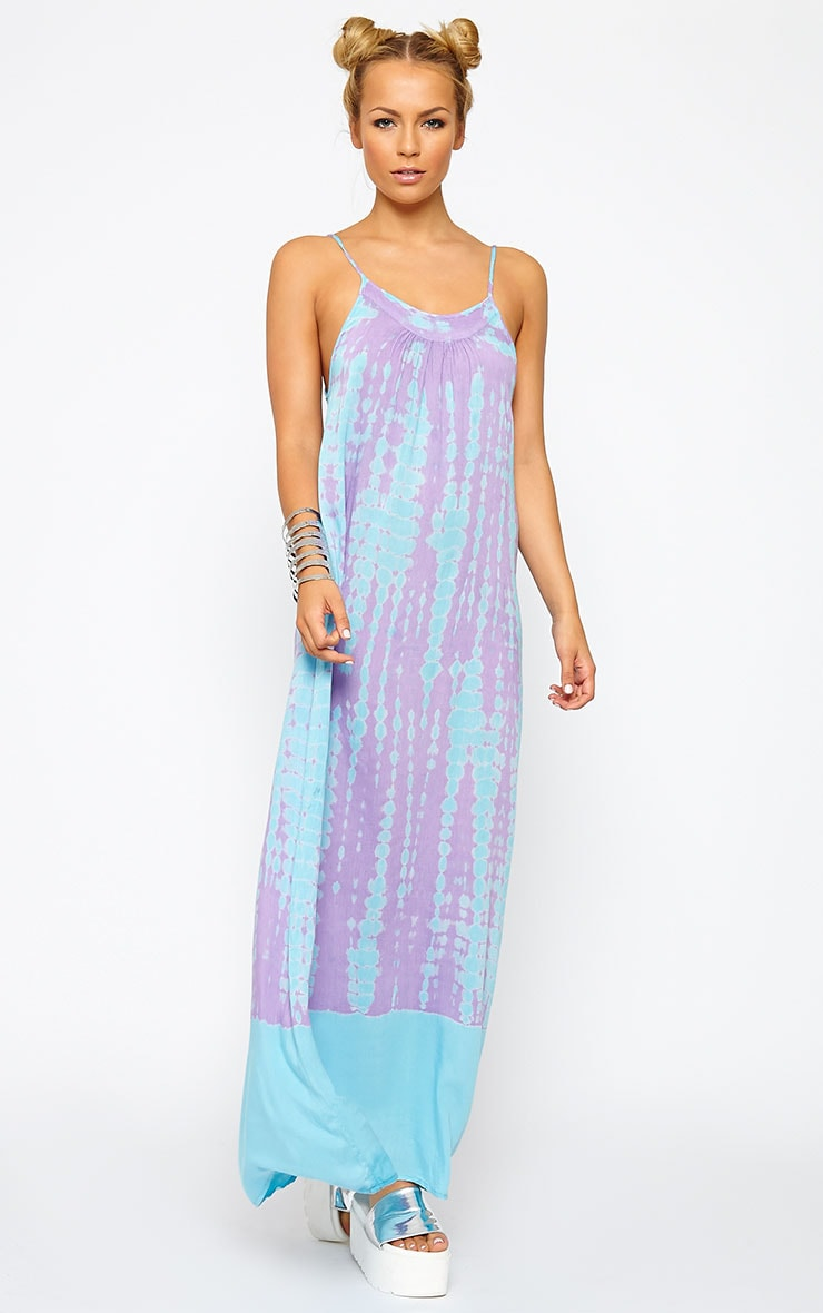 Zadie Purple Tie Dye Maxi Dress 1
